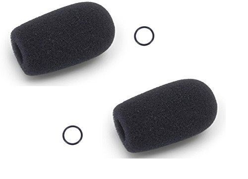 Two (2) Replacement windscreens for Bose/David Clark/Lightspeed/ Crystal Mic (Mic Accessories Windscreens)