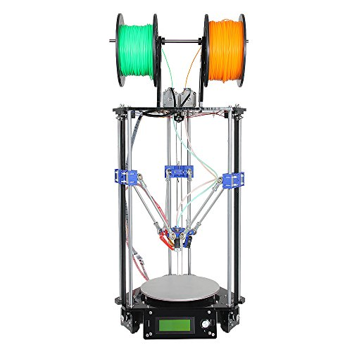 Geeetech Delta Rostock Mini G2s 3D Printer,Double Extruder,Support 4 Materials,Auto Level
