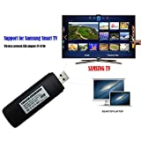 Velidy USB Wireless TV WiFi Adapter,2.4GHz and 5GHz Dual-Band Wireless Network USB WiFi Adapter for PC 2009-2011 Model Samsung Smart TV WIS12ABGNX WIS09ABGN 300M