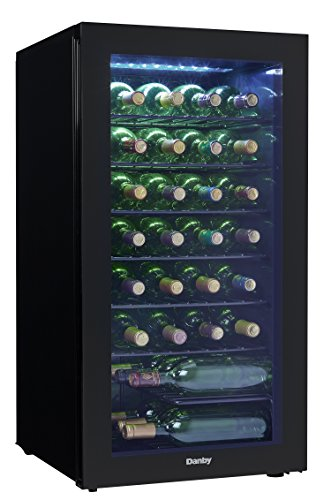 Danby DWC032A2BDB 36 Bottle Wine Cooler, -