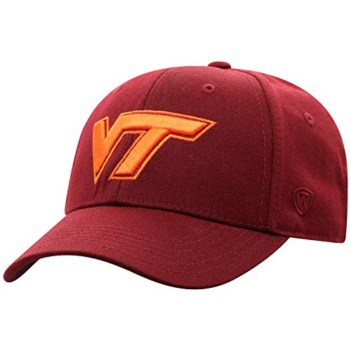 (Top of the World Virginia Tech Hokies Men's Memory Fit Hat Icon, Maroon, One Fit)