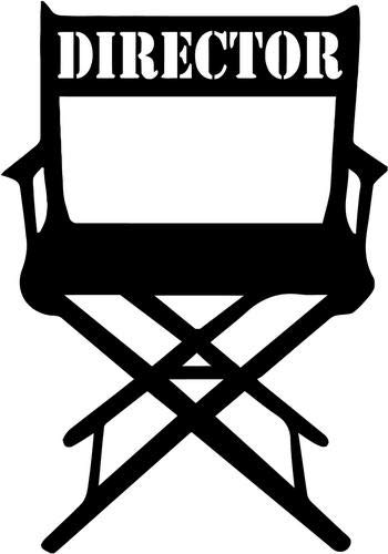 Mandy Graphics Director Chair Movie Vinyl Die Cut Decal Sticker for Car Truck Motorcycle Windows Bumper Wall Home Office Decor Size- [8 inch/20 cm] Tall and Color- Gloss Black