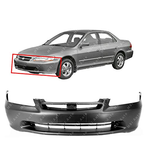 MBI AUTO - Primered, Front Bumper Cover Fascia for 1998 1999 2000 Honda Accord Sedan 98 99 00, -