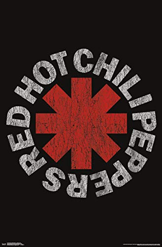 Rock Small Poster - Trends International Red Hot Chili Peppers - Vintage Logo Wall Poster, Multi