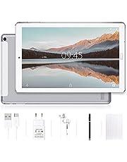 YESTEL Android 10.0 10-inch tablets met 4 GB RAM + 64 GB ROM - WiFi | Bluetooth | GPS, 8000mAH met hoes - (geen toetsenbord of muis) Zilver