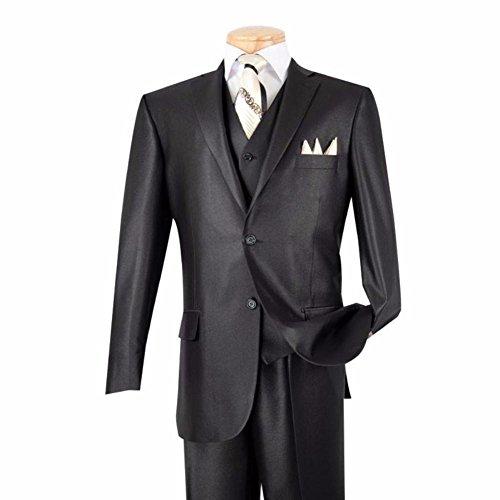 Classic Fit Men's Suits With Vest 3 Piece 2 (Wash Wool Suit)