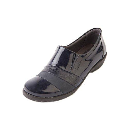 Reptile cordones Zapatos de Navy Otra de para Patent Suave Piel mujer qv7wafq