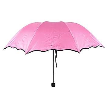 Lindo color caramelo flor de agua UV vinilo de alta calidad paraguas PARAGUAS paraguas plegable 3