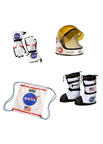 Wonder Clothing Big Boys' NASA Astronaut Helmet Boots Gloves and Backpack Accessory Set