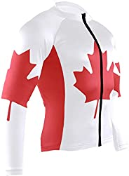 UWSG Mens Cycling Jersey Shirt South African Flag Long Sleeve Bike Jersey Riding Tops