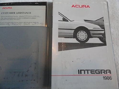 1986 acura integra owners manual acura amazon com books rh amazon com acura integra owners manual honda integra owners manual
