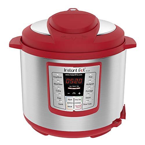 Instant Pot Lux 6 Qt Red 6-in-1 Muti-Use Programmable Pressu