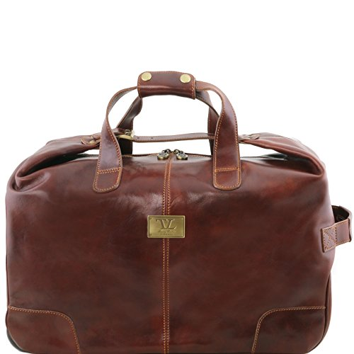 Tuscany Leather Barbados Trolley leather bag Brown by Tuscany Leather