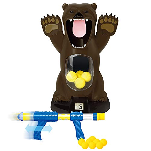 (XEDUO Toy for 8+ Years Old Kids Girls Boys, Children Educational Toys Model Toy Scream Hungry Bear Electronic Shooting Game Party Toys with Sound for Kids (Brown))