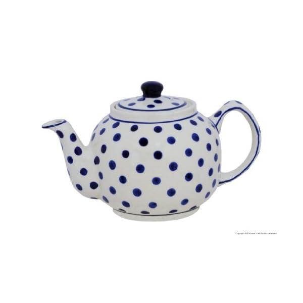Polish Pottery Boleslawiec Teapot, 1L in DOTTY pattern