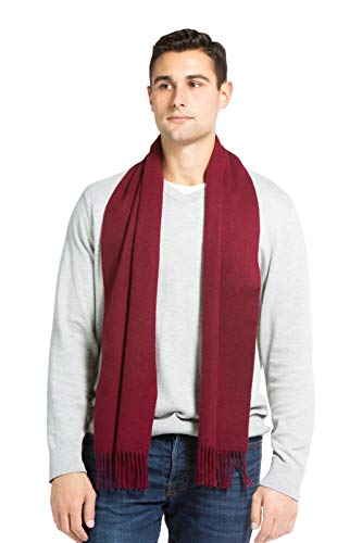 Fishers Finery Men's 100% Pure Cashmere Scarf, Warm and Comfortable -