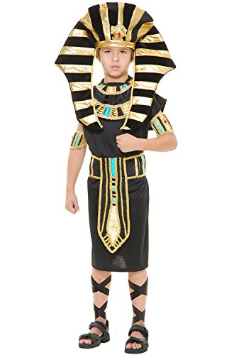 Charades Child's King Tut Costume Historical, Multicolor, (King Pharaoh Costumes)