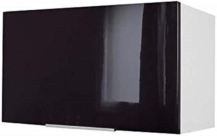 Berlenus CH6HN - Mueble Alto de Cocina para Cubrir la Campana (60 cm), Color Negro Brillante: Amazon.es: Hogar