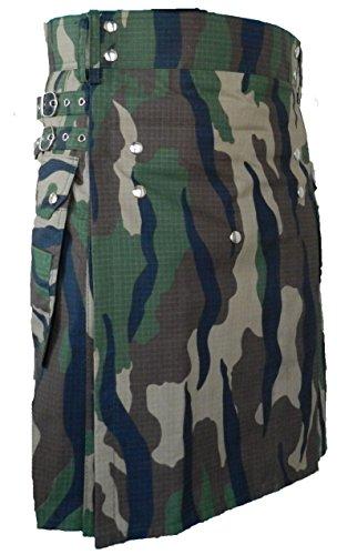 Men's Fashion Snap-on Kilt, Deluxe Utility ()