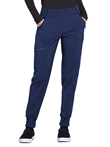 Cherokee Infinity CK110A Mid Rise Tapered Leg Jogger Pant Navy S