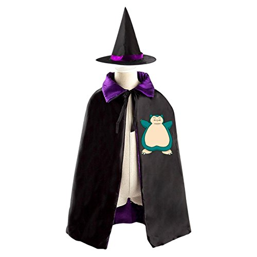 [Cute Snorlax Kids Halloween Party Costume Cloak Wizard Witch Cape With Hat] (Game Boy Fancy Dress Costume)