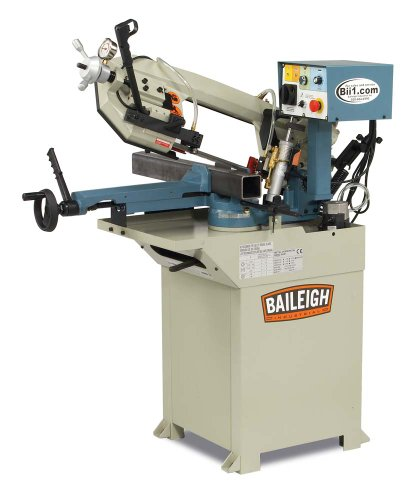 Baileigh BS-210M Hydraulic Horizontal Band Saw, 110V, 1hp Motor, 3/4″ Blade, 6-3/4″ Round Capacity
