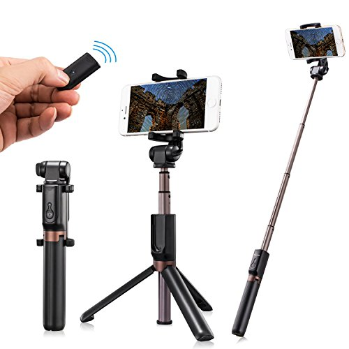 Humixx 2 In 1 Selfie Stick Wireless Remote Controlled Tripod Monopod Widely Compatible With Ios And Android Smartphones  Best Partner For Podcast  Selfie Live And Facetime