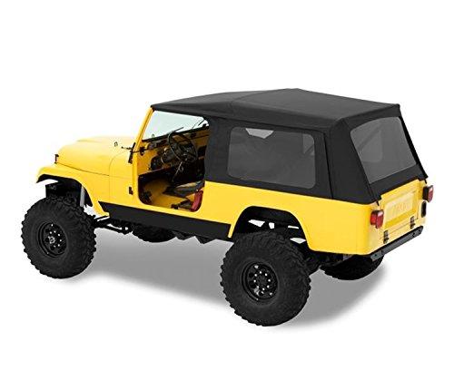 (Bestop 54608-15 Black Denim Supertop Classic Replacement Soft Top w/Tinted Windows for 1981-1985 Jeep CJ8)