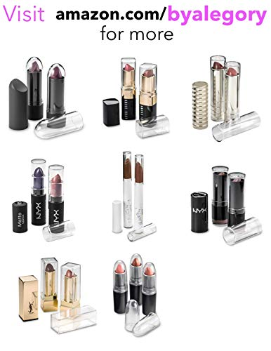 Clear Acrylic Lipstick Caps - Replaces Original Individual MAC Lipstick Caps - See Your Favorite Lipstick Color Easily (24 Pack) by BY ALEGORY (Image #6)
