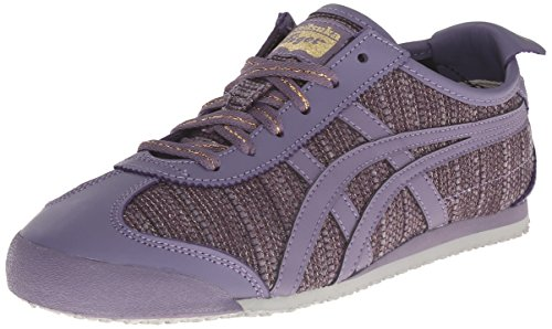 Onitsuka Tiger Women's Mexico 66 Classic Running Shoe, Aster Purple/Aster Purple, 9 M US