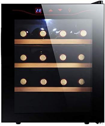 MINGDIAN Enfriador de Vino termoeléctrico con Capacidad para 12 Botellas con Controles Digitales de Temperatura, Potencia de enfriamiento silenciosa y sin Vibraciones Negro (12 Botellas)