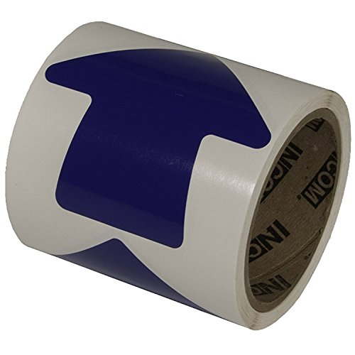 Incom Manufacturing: 4'' Vinyl Arrow, Blue, (Roll of 100) by Incom