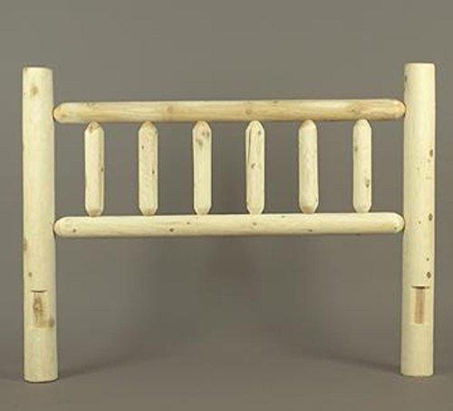 """58"""" Cedar Log-Style Wooden Double Bed Headboard"""