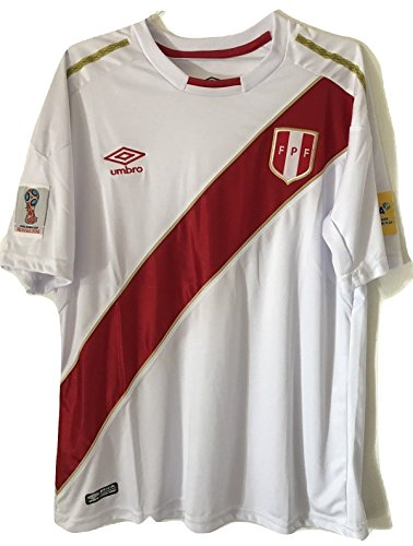 3734f97c5 2018 Peru Home National Team soccer jersey (Small) - Buy Online in ...