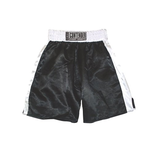 Contender Fight Sports In-Stock Trunks (Black-White, Medium)