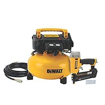 Image of Home Improvements DEWALT Air Compressor Combo Kit with Brad Nailer (DWC1KIT-B)