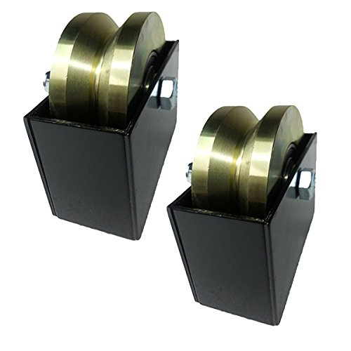 4-Elite-Groove-Wheel-Gold-Zinc-Pairs-With-Cover-Box-Heavy-Duty-Gate