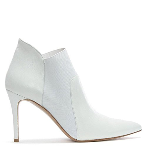 White Afede Bottes Daniel Chelsea Toe Que A Souligné Leather Cuir Blanc zn4xwEC47q