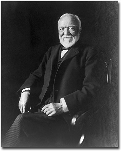 Andrew Carnegie Photo Seated Portrait 1913 8x10 Silver Halide Photo Print by The McMahan Photo Art Gallery & Archive