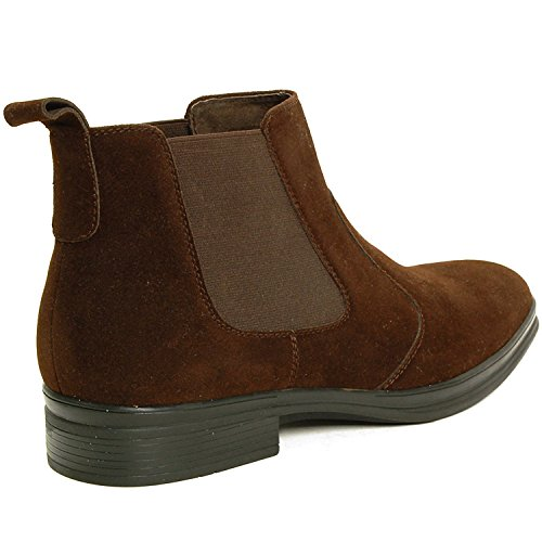 Alpine Alpine Sion Mens Swiss Swiss Brown Sion Suede Chelsea Ankle Boots Chelsea Mens qxfatTI