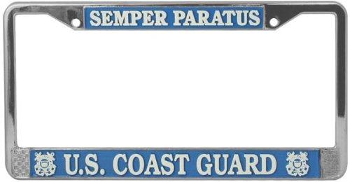 Semper Paratus License Plate Chrome product image