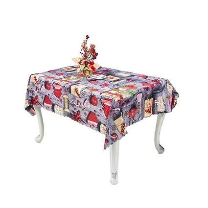 Nappe de No/ël Rectangulaire Polyester 150 180cm noel de sapin Motifs pour Noel table decoration