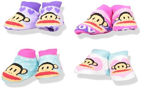 paul-frank-girls-4-pack-infant-bootie-socks-assorted-0-12