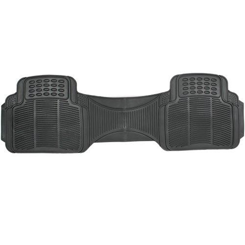 (OxGord Universal Fit Rear Ridged Heavy Duty Rubber Runner Floor Mat Liner - (Black))