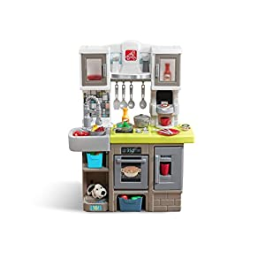 Step2 Contemporary Chef Kitchen | Colorful Plastic Play Kitchen | Kids Kitchen Playset with 25-Pc Toy Accessories Set…