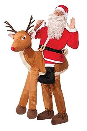 Forum Novelties Men's Santa Ride-A-Reindeer Adult Costume, Multi, One Size