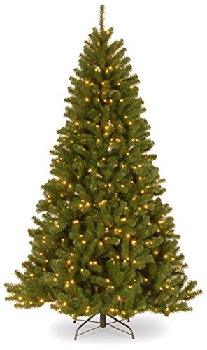 National Tree 6.5 Foot North Valley Spruce Tree with 450 Clear Lights, Hinged (NRV7-300-65) (Lights Tree With Christmas 6.5)