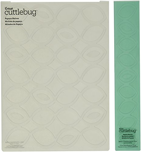 Cuttlebug Cricut Embossing Folder and Border, 5 by 7-Inch, Papaya Halves
