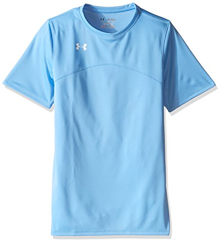 Under Armour Boys' Golazo Soccer Jersey, Carolina Blue (475)/White, Youth X-Large - Carolina Blue Jersey T-shirt