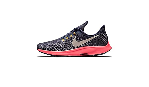 Amazon.com | NIKE Womens Air Zoom Pegasus 35, Blackened Blue/Flash Crimson/Orange Peel/Moon Particle, 6 us | Road Running